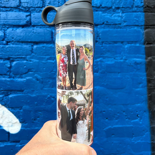 custom water bottle photo collage template